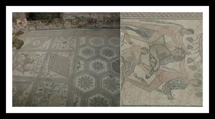 Chão de Mosaico do castigo de Dirce  Pula Croácia.jpg