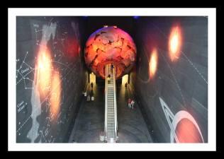 Entrada para o setor vermelho do museu (Red Zone)