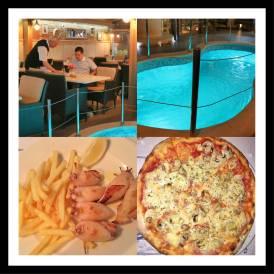 Restaurante Galija em Pula Croácia: Pizza e lula recheada