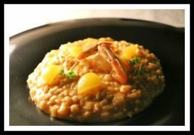 Restaurante Divino em Hvar na Croácia: risoto de camarão