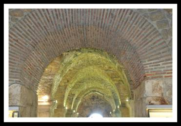 Detalhe do teto do Subterrâneo do Palácio