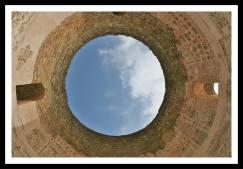 Teto do Vestíbulo onde especula-se que havia uma abóboda