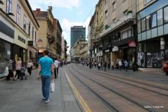 Ulica (=rua) Ilica: centro de Zagreb