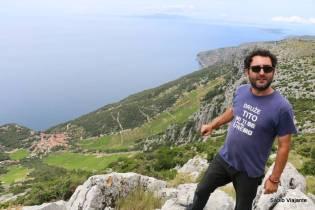 Ivor: nosso guia, economista e crítico político no Hvar off road tour