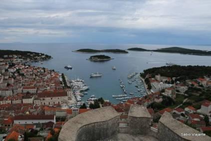 Hvar town vista do Forte Spanjola