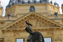 A estrutura tinha sido utilizada na exposição do Milênio em Budapeste e depois transportada para Zagreb
