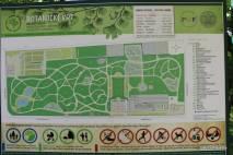 Mapa com a visão geral do Jardim Botânico de Zagreb