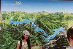 Mapa localizado na entrada do Parque dos Lagos Plitvice: são 10 km com muitos lagos!