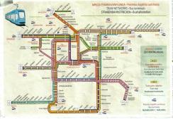 Mapa do transporte público em Zagreb
