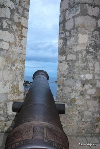 Os canhões protegiam Hvar de invasores no passado