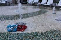 Jatos de água para lavar os pés... ou se divertir!