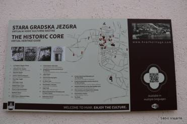 Guia do centro histórico de Hvar