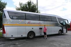 Nosso ônibus para o day tour a partir de Zagreb: 2 horas de uma confortável viagem