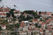 Detalhe das casas em Hvar town
