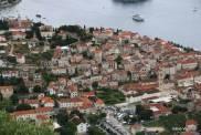 Hvar town vista do Forte Napoleão