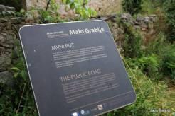 Início da vila de Malo Grablje