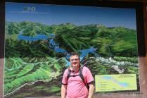 Mapa logo na entrada 1 do Parque Nacional dos Lagos Plitvice: 16 lagos e muitas cachoeiras