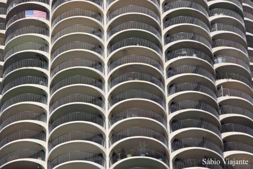 Tentando aplicar o vídeo de McCurry: padrão no Edifício Marina City em Chicago