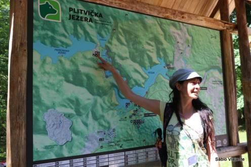 Mapa no ponto ST3 após o Lago Prošćansko