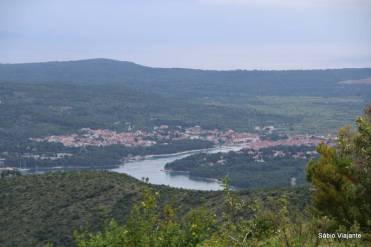 A cidade de Stari Grad em Hvar Croácia