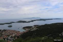 Vista do Forte de Napoleão: Ilhas Pakleni