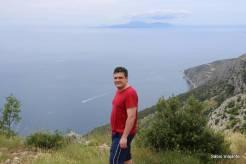 Vista do ponto mais alto da Ilha de Hvar: 626 metros!